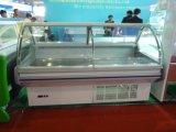 Verre courbé commerciale réfrigérateur compteurs Serve-Over