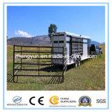 Schwarzes überzogenes 5ftx10FT Pferden-Hürde-Panel/Viehbestand-Vieh-Panel nach Amerika
