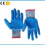 """""""Мятым"""" эффектом хлопка с покрытием из латекса рабочие перчатки"""