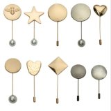 Schmucksache-Metalllegierungs-scheibenförmige Brosche-PerlenSicherungsstift-Zubehör
