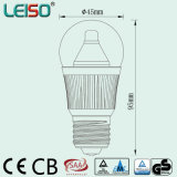 O bulbo elevado morno real do diodo emissor de luz G45 do CRI do branco 2500k 400lm com CREE lasca-se (J)