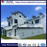 Estructura de acero almacén casa prefabricada de acero de la luz de Casa Villa