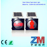 Alimentada a energia solar LED piscando Luz de Tráfego / Trafic Direcional / Luz do semáforo