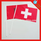Флаг портативной руки печатание цифров развевая для вентилятора спортов