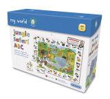 Venda por grosso de papel personalizado de brinquedos de crianças quebra-cabeças com preço mais barato