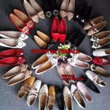 2.17 dollari MOQ una signora Flat Shoes Stock di 100 accoppiamenti
