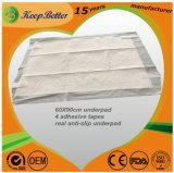 접착 테이프를 가진 우수한 Breathable Anti-Slip 처분할 수 있는 자제할수 없음 Underpads 침대와 의자 패드 모성 침대 매트