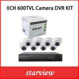 監視8CH 600tvl CCTV IRのドームのカメラの機密保護DVRキット