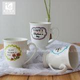 11oz de Mok van de Druk van het Embleem van de Mok van de Koffie van het Porselein van de Mok van de voet