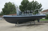 Aqualand 19feet 5.8mの堅く膨脹可能なボートか肋骨のレスキュー哨戒艇(RIB580T)