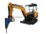 Máquina escavadora da trilha de Wy22h mini com eixo helicoidal