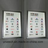 Do indicador interno dos cafés do frame da bandeira do poster da propaganda do diodo emissor de luz caixa leve
