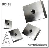 HSS Inlay D2 1.2379 Plástico de PVC reciclado de la Máquina desbarbadora Zerma solo eje Shredder Cuchillo de hoja