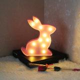 귀여운 토끼 모양 11LED 밤 빛 램프