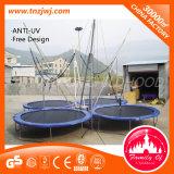 Trampoline rond de saut à grande taille avec filet de sécurité