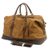 Couro Cowhide lona impermeável de bolsas de tecido couro natural Camping Saco de viagem (RS-831-2)