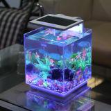 Nueva patente Nano Ver acrílico tanque de pescado Mini Acuario Pequeño tanque de pescado