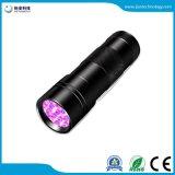 9LED de haute qualité de la lumière UV 395-400nm lampe torche LED UV