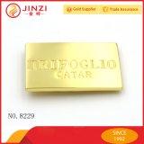 O melhor metal feito sob encomenda de venda grava o emblema conhecido da placa do logotipo com cor de prata do ouro