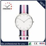2016 het Hete Zwitserse Horloge van het Roestvrij staal van de Verkoop met Kleurrijke Riem (gelijkstroom-826)