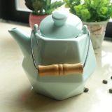 POT di ceramica del tè dell'OEM con il POT variopinto del tè della porcellana del POT del caffè bianco della corda