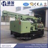 Het Gebruik van de Installatie van de Boor van de Put van het Water van het Type Hf220y van kruippakje met de Compressor van de Lucht