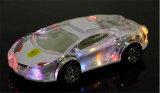 Яркие огни прозрачный кристалл Lamborghini автомобильный адаптер Bluetooth динамик