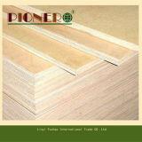 Precio barato de la madera contrachapada comercial de la base del álamo de la venta de la fábrica