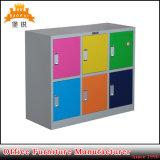 Colorido de metal para crianças pequenas 6 armário de porta