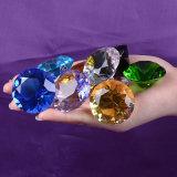 подарки влюбленности диаманта 30mm оптовые цветастые стеклянные кристаллический Wedding украшение