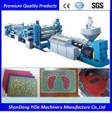 PVC 환경 보호 최신 용해 살포 두 배 색깔 차 지면 매트 플라스틱 압출기
