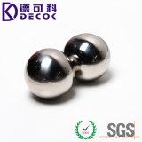 bille solide en métal d'acier inoxydable de 75mm