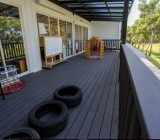 Plancher conçu par Decking de terrasse de WPC