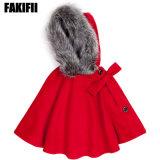 Enfants Enfants de vêtements haut de gamme de vêtements de laine rouge d'hiver enduire fille Veste d'hiver