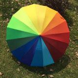 Рекламные автоматически открывать 16k красочные Rainbow поле для гольфа зонтик дождя и освещенности