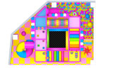 De zachte Speelplaats van het Stuk speelgoed van de Speelplaats van Jonge geitjes Plastic