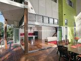 Двери австралийского двойника низкие e силла типа плоского стеклянные алюминиевые Bifold