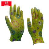 перчатка Coated перчатки PU 13G Lightweigth Nylon садовничая для работы