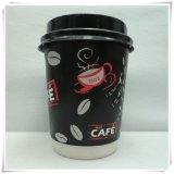 熱い飲み物の熱いコーヒーのための使い捨て可能な二重壁の紙コップ