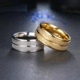 De dubbele Ring van het Roestvrij staal van de Juwelen van de Manier van de Weg voor Vrouwen