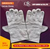 K-80 20PCS продевает нитку перчатки хлопка безопасности холстины работая с подкладкой хлопка
