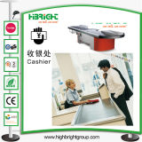 Supermarkt-Prüfungs-Kassierer-Kostenzähler-Tisch-Geld- und Devisenhandelsabteilung