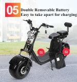 Scooter électrique de double batterie d'Ecorider 60V 1000W Citycoco avec la suspension et la double portée
