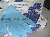 9-дюймовый одноразовые синий нитриловые перчатки экзамена для медицинского использования