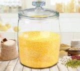 Frasco grande do recipiente de vidro do tamanho dos produtos vidreiros populares da cozinha
