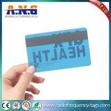 Cartão transparente RFID do espaço livre do tamanho Cr80 com a listra magnética preta