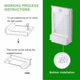 2W Openlucht LEIDENE van de Sensor van de zonne Aangedreven Lichte 49 LEIDENE Witte Waterdicht van de Lamp van de Zonne Lichte Menselijke Motie van het Lichaam PIR Veiligheid van de Tuin