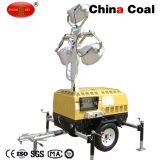 Torretta chiara mobile idraulica esterna del motore diesel