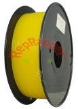 Además de nylon en espiral de 3,0 mm amarillo de filamentos de impresión 3D