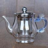 Théière en verre réglée de résistance thermique de cadeau de théière en verre de Pyrex avec Infuser